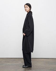 La Garçonne Moderne Writer Overcoat and Vintage Wide Leg Pant