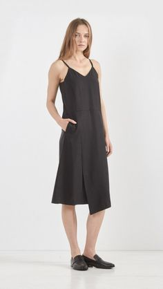 Hope More Thin Strap Dress in Black   The Dreslyn