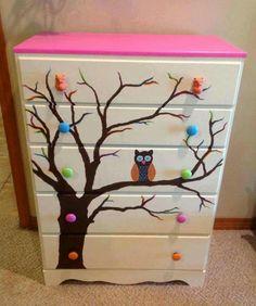Owl dresser chest