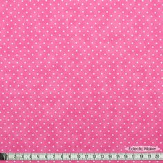 Moda Basics Essential Dots in Bubble Gum (8654 36) fabric for patchwork quilting and dressmaking from Eclectic Maker [8654 36] : Eclectic Maker, patchwork, quilting and dressmaking fabric, patterns, habberdashery and notions.