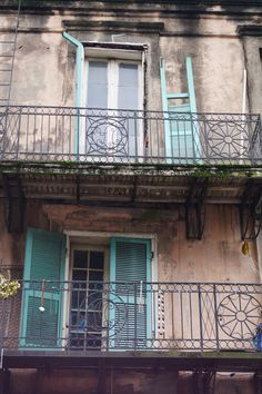 Just some balcony's in the French Quarter in New Orleans