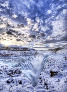 Gullfoss – Iceland 20 Amazing Nature Photos Who Can Confuse you Image Nature, All Nature, Amazing Nature, Nature Photos, Land Art, Beautiful World, Beautiful Places, Amazing Places, Beautiful Scenery
