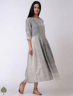 Women's Clothing Trend Mark Indian Gown Long Maxi Beachwear Robe Top Kurtis Cotton Side Button Evening Dress
