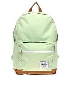 Mint green Herschel backpack. need it for school!