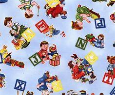 Toytime Children's Cotton Fabric, Kokka Japanese Import