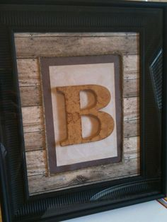 Framed Initial Art by BryleeDesigns on Etsy, $25.00