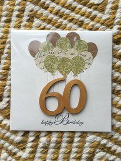 Birthday card 60 £3.80