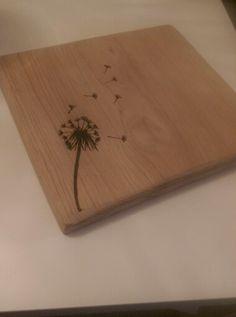 Chopping board #oak #pyrography #wood #flower