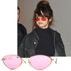 Selena Gomaz - Small Sunglasses Trend - Tiny 90s Sunglasses Trend