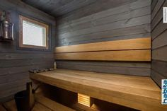 sauna Saunas, Jacuzzi, Tiny Homes, Blinds, Spa, Stairs, Cottage, Cabin, Bathroom