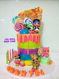 LOL doll Rainbow drip cake #neenscreativecakes