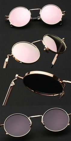 54749bd18b074 John Lennon Inspired Sunglasses Round Hippie Shades Retro Reflective Colored  Lenses