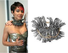 Fish Mooney (Jada Pinkett Smith) wears Atelier Minyon Snake Necklace in an upcoming episode of Gotham Season Gotham Season 1, Fish Mooney, Jada Pinkett Smith, Snake Necklace, Female Fighter, Boss Lady, Cosplay Ideas, Dreadlocks, Costumes