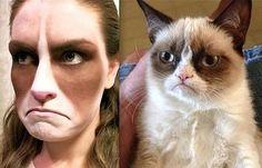 Grumpy Cat DIY Halloween Costume. Source: Instagram user sugarpillmakeup