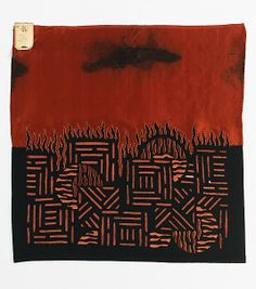 Textile Textile attributed Sarah Lipska (Polish, 1882–1973), Silk, wool, 1920-29