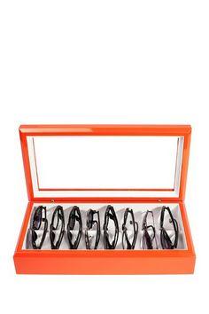 Handcrafted Luxury Europen Inspired OYOBox Orange Eyewear Organizer by OYOBox on @HauteLook