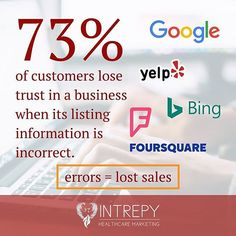 Reposting @intrepy: Listing errors can cause customer relations damage and lost sales. Is your information accurate when people search on the 80+ major listing platforms? Free scan in bio.
