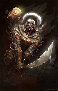 Stalwart Resolve (Leper from Darkest Dungeon), Francis Brunet on ArtStation at https://www.artstation.com/artwork/bxJ2d