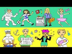 Deutsch lernen: 20 Berufe II - German for children + beginners: professions Learn German, Family Guy, Comics, Learning, Children, Youtube, Fictional Characters, Female Form, German Grammar