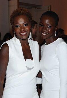 Mama Viola Davis and Danai Gurira. Stunning in their white.