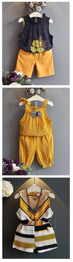Love mustard? Dress your kid in a matching mustard color outfits! Click on the picture to see these adorable baby girl 2 piece set outfit starting from €8.18. Click on the picture to see them all.
