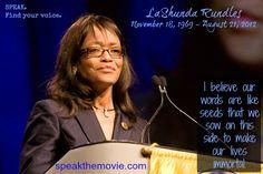 @LaShundaRundles #SPEAK #SPEAKmovie #quotes #WCPS #Toastmasters