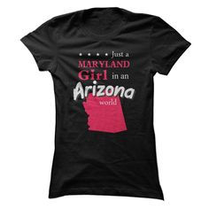 (Males's T-Shirt) Pride of Maryland Ladies live in Arizona t-shirt - Buy Now...