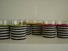 filihunkat: Stribede T-lights Crochet Jar Covers, Yarn Inspiration, T Lights, Crochet Home Decor, Sticks And Stones, Diy Projects To Try, Diy And Crafts, Knit Crochet, Easy Diy