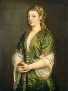 Titian  Venetian, c. 1490 - 1576  Portrait of a Lady c. 1555
