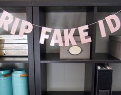 Birthday RIP Fake ID™ by SoireeSophisticate on Etsy Looking for a special banner for your bestie's birthday? 21st Birthday Gifts, 19th Birthday, Birthday Box, Birthday Celebration, Birthday Cakes, 21st Birthday Outfits, Birthday Dresses, Friend Birthday, Happy Birthday