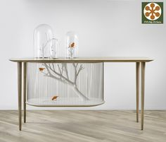 If It's Hip, It's Here: Archibird, A Combination Birdcage and Console Table by Gregoire de Laforrest.