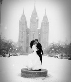 The perfect winter wedding.  LOOK AT THE TOP OF THE BUILDING :) totally did a double take when I saw this pic