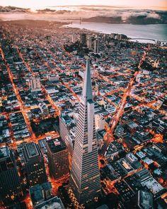 San Francisco Feelings - Downtown from above. San Francisco, California