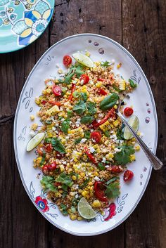 Mexican grilled street corn quinoa salad from @hbharvest, plus 25 more quinoa salads. (Perfect for backyard barbecues, potlucks, and brown bag lunches.)
