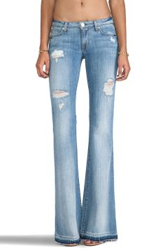 Love the hem dye effect on these bells. Hudson!? Hudson Jeans Mia Flare in Indigo Haze|REVOLVEclothing $220
