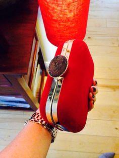 Red velvet clutch Alex And Ani Charms, Red Velvet, Bracelets, Bags, Jewelry, Fashion, Handbags, Moda, Jewlery