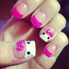 Hello Kitty! ❤ liked on Polyvore featuring beauty products, nail care, nail polish, nails, makeup, beauty, hello kitty and hello kitty nail polish