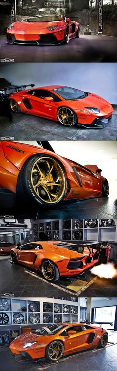 This Liberty walk Aventador is absolutely!! Sick bodywork, Menacing looks, spitting massive flames!! Bling as rims! Japanese sure know how to tune cars well
