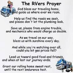The RVers Prayer - #LoveYourRV