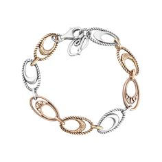 Carolyn Pollack Jewelry   Canyon Road Mixed Metal Link Bracelet