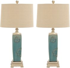 Shop for Urban Designs Victoria Ceramic Table Lamp (Set of Get free delivery On EVERYTHING* Overstock - Your Online Lamps & Lamp Shades Store! Get in rewards with Club O! Black Table Lamps, Table Lamp Sets, Direct Lighting, Lamps For Sale, Lamp Shade Store, Ceramic Table Lamps, Home Decor Shops, Contemporary Ceramics, Fabric Shades