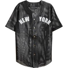 LOVE LEATHER Perforated Leather Baseball Jersey ($925) ❤ liked on Polyvore featuring tops, t-shirts, shirts, jerseys, white baseball jersey, jersey t shirts, short sleeve baseball tee, jersey shirts and white short sleeve shirt