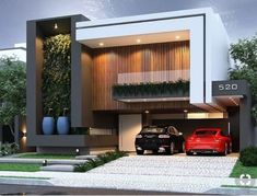Awesome Modern House Design for Your Dream House Modern Exterior House Designs, Modern House Design, Exterior Design, Bungalow House Design, House Front Design, Villa Design, Facade Design, Residential Building Design, House Architecture Styles