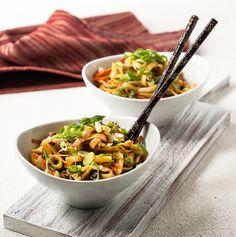 Mongolian Shiitake Noodles / gluten-free, dairy-free, vegetarian recipe