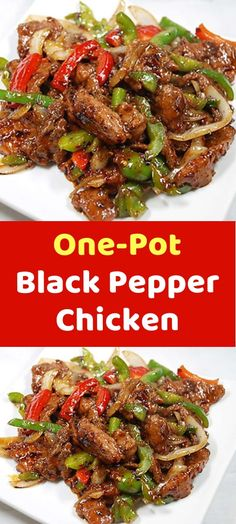 This Southeast Asian One-Pot Black Pepper Chicken dish is a spicy and savory delight, with flavors of ginger, soy, and garlic playing off one another, and black pepper emerging as the star. Because it requires Yummy Recipes, Asian Recipes, Cooking Recipes, Healthy Recipes, Low Calorie Recipes Crockpot, One Pot Recipes, Recipes With Chicken And Peppers, Chicken Stuffed Peppers, Bell Pepper Chicken Recipes