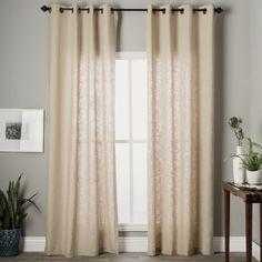 $50. Grand Luxe Khaki Linen Gotham Grommet Window Panel