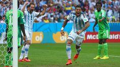 Marcos Rojo (ARG) - 3rd Goal - Nigeria vs Argentina 2-3 - Group F 25 June 2014