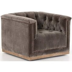 Maxx Swivel Chair, Sapphire Birch Modern Swivel Chair, Leather Recliner Chair, Swivel Recliner, Tufted Chair, Sofa, Leather Chairs, Chair Cushions, Living Room And Dining Room Design, Living Area