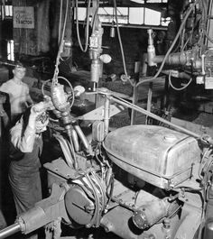 Farmall Works Assembly Line   Photograph   Wisconsin Historical ...