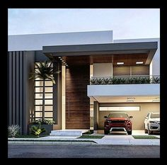 149 most popular modern dream house exterior design ideas -page 26 Modern House Facades, Modern House Plans, Modern Architecture, Villa Design, Facade Design, Exterior Design, House Front Design, Modern House Design, Luxury Modern Homes